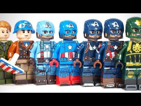 Lego Avengers Captain America First Avenger Captain America Stealth Suit Unofficial Lego Minifigures