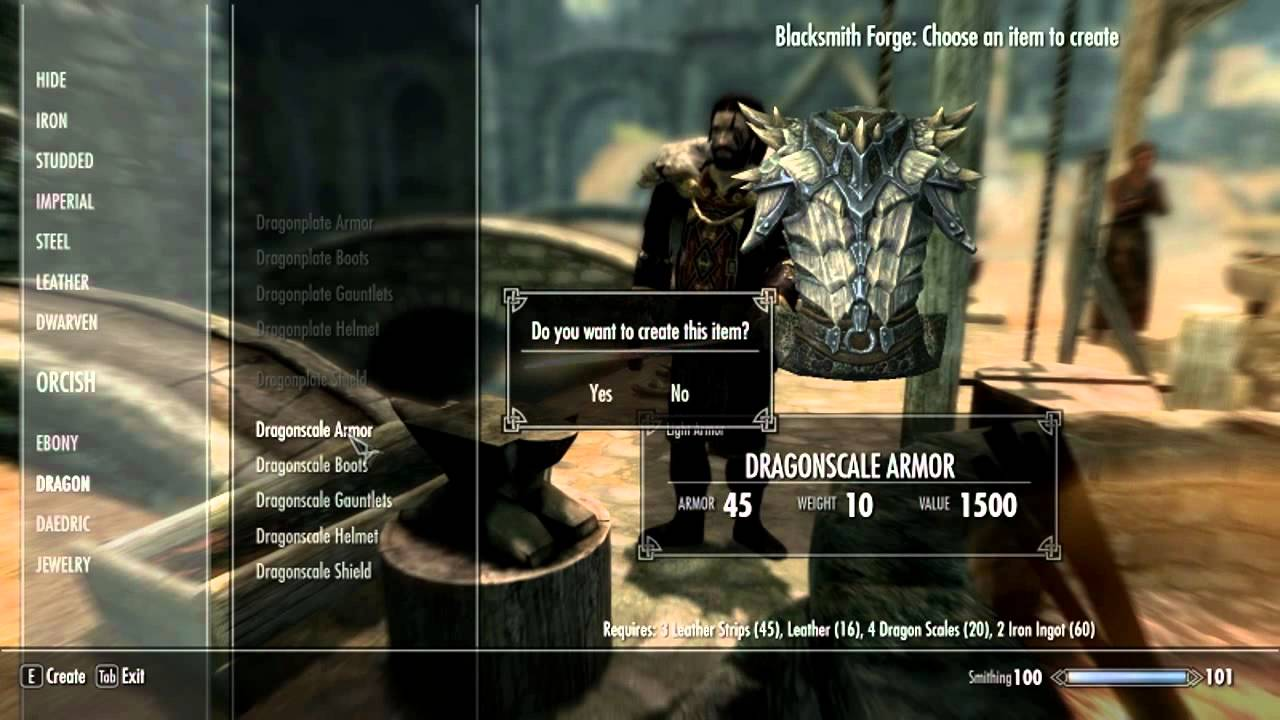 how to build more armor in smith skyrim
