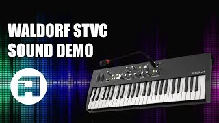WALDORF STVC Ensemble Synthesizer & Vocoder Sound Demo