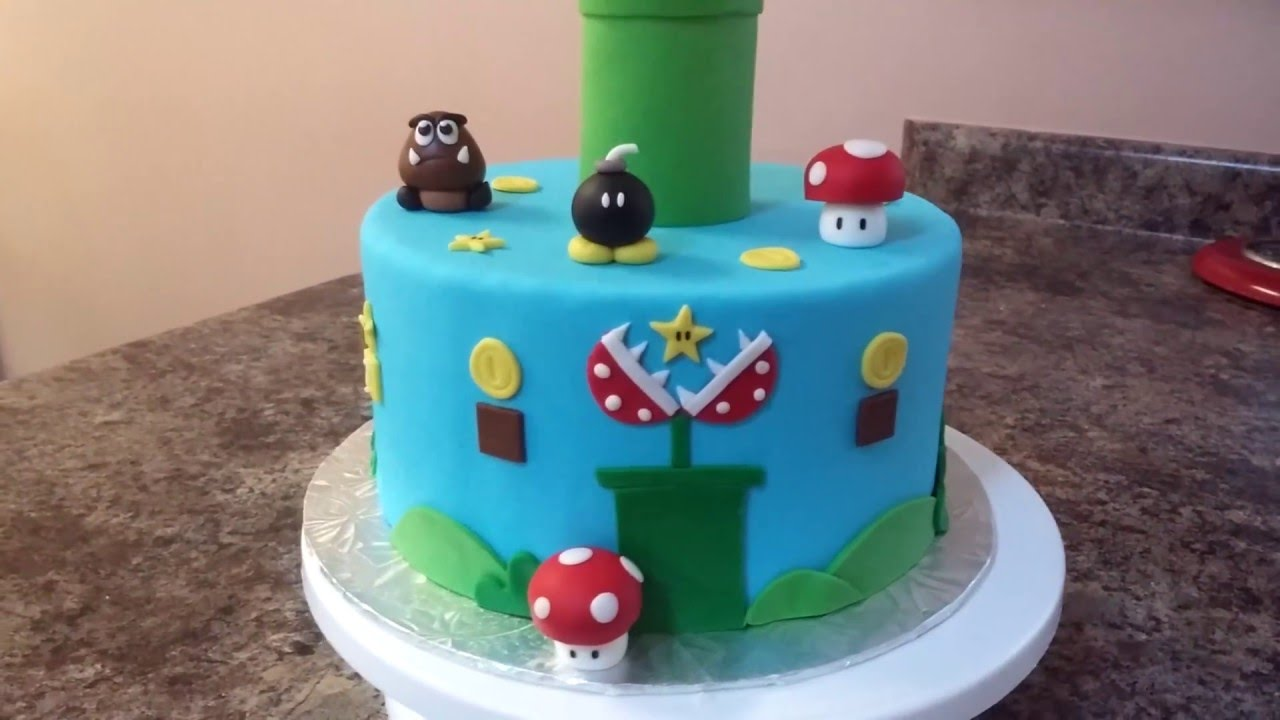 Super Mario Bros Cake Tutorial Youtube