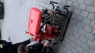 Motopompa Po3 Polonia, test ssania na sucho