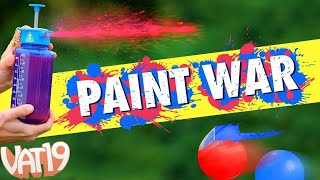 PAINT WAR with Aquabot Sprayer & Reusable Water Bombs
