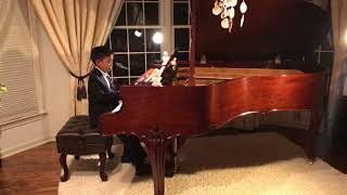 8-year old talented Cary playing Mozart's famous Sonata in F Major k332 3rd movement