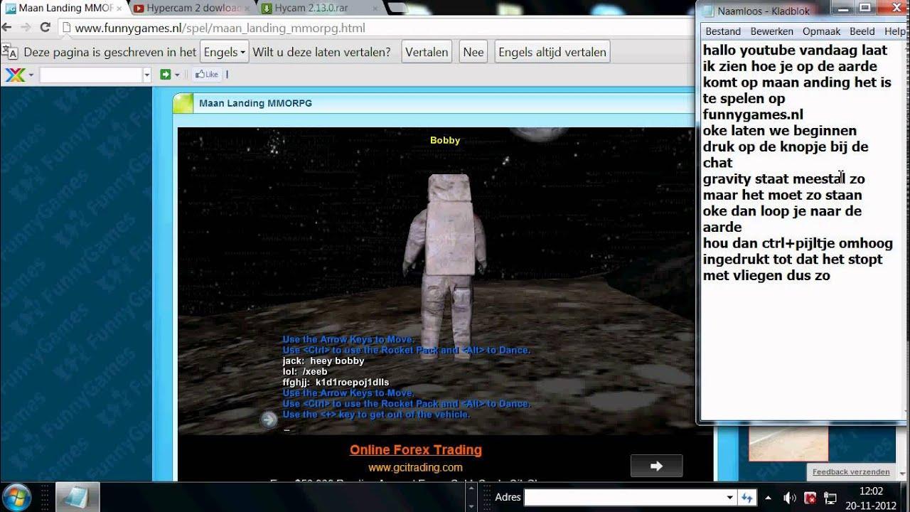 op de aarde komen op maanlanding - YouTube Funnygames Nl