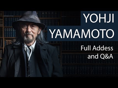 Yohji Yamamoto | Full Address and Q&A | Oxford Union