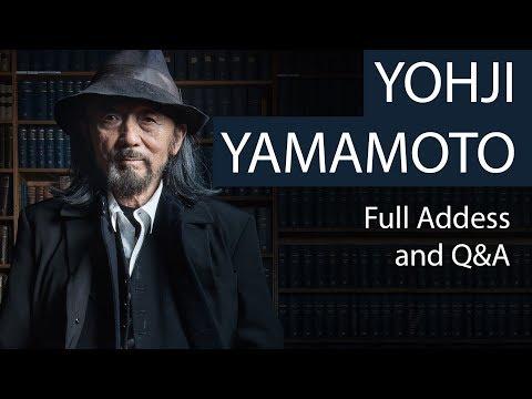 Yohji YamamotoFull Address and Q&AOxford Union