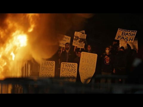 14 Minutes of Violent Students and Anarchists Setting Fire on UC Berkeley Campus