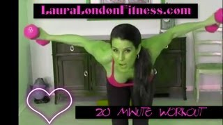 20 Minute Workout - Compound Workout with Laura London Fitness