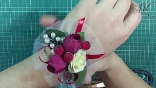 Бутоньерки для подружек невесты. Мастер класс.