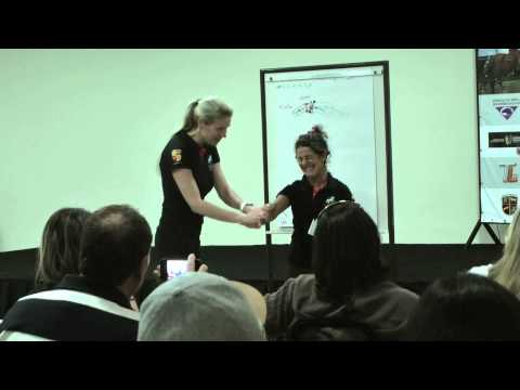 Lectures at the straightness training clinic brazil with Marijke de Jong