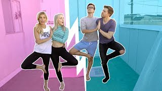 Video Crazy Couples Yoga Challenge with Rebecca Zamolo & Matt Slays - Vlogmas Day 13 download MP3, 3GP, MP4, WEBM, AVI, FLV Desember 2017