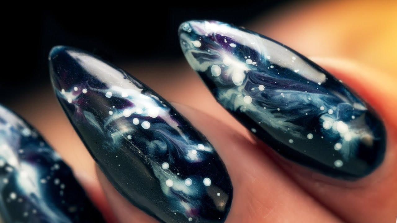 Galaxy Nails - Step by Step Tutorial - YouTube