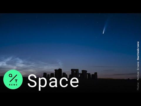 Comet Neowise Streaks Past Earth