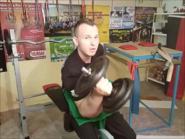 Armwrestling Workout mit Matthias
