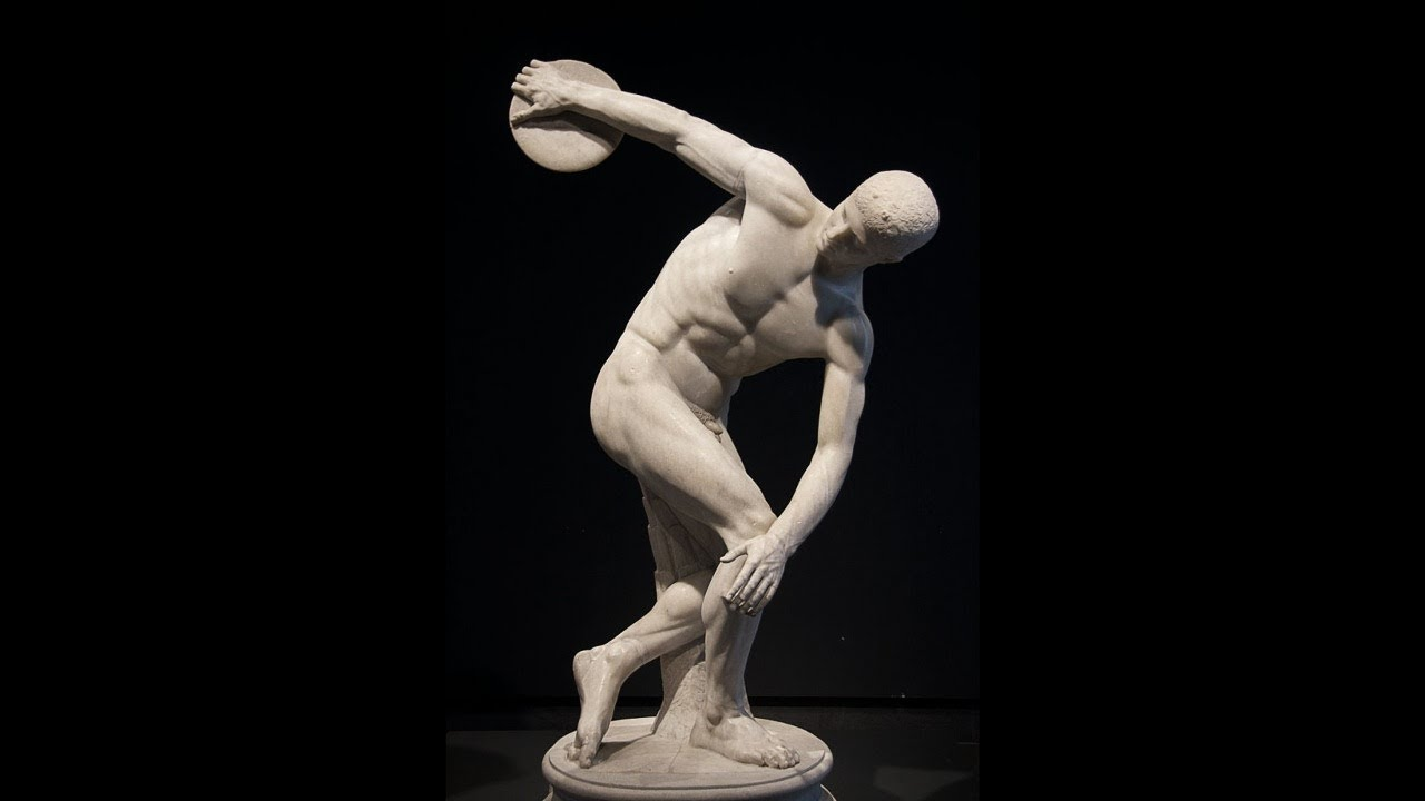 the discobolus Noted for his animals (of which no examples have survived) and for his athletes in action his works are known through descriptions by ancient writers, such as pliny and pausanias, and two of them by copies, the discobolus (gr discus thrower), the best copy of which is the lancelotti discobolus in rome (terme museum), and athena and marsyas.