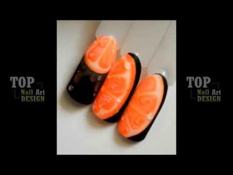 Fruit design, orange, kiwi, watermelon EAZY NAIL ART DESIGN