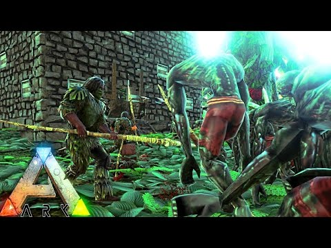 ARK Survival Evolved - ZOMBIE HORDE ATTACKS HUMAN SETTLEMENT & EPIC PRIMAL CARNO FAIL ( Gameplay )