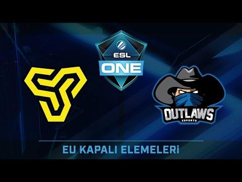 CS:GO - Space Soldiers vs Outlaws.gg [Cobblestone] 1. Maç - ESL One Köln