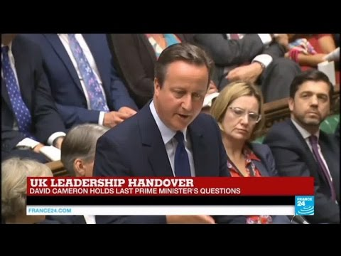 UK leadership handover: David Cameron holds last prime minister's questions