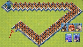 COC All Troops! Who Can Survive This Difficult Trap On COC? Trap VS Troops #coco7  Chip GamePlays