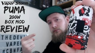 Скачать VAPOR STORM PUMA 200w Box Mod Review