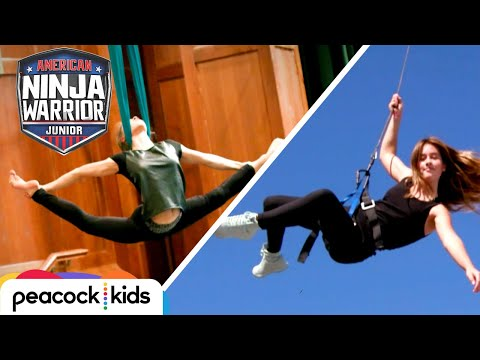 [FULL CLIP] AMERICAN NINJA WARRIOR JUNIOR | Kid Stuntwoman Faces Off With Aerial Acrobat