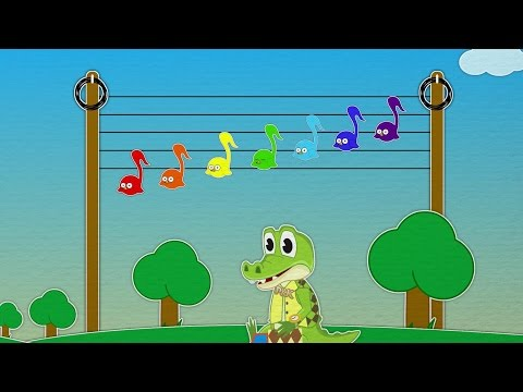 Развивающие игры для детей по изучению нот 5-7
