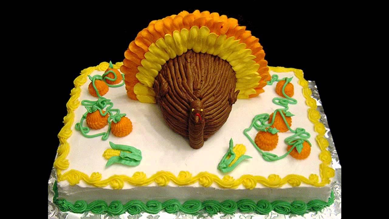 Easy Thanksgiving cake decorating ideas & Easy Thanksgiving cake decorating ideas - YouTube