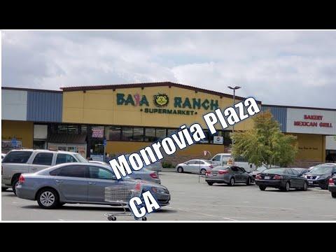 Monrovia Plaza Monrovia CA LA Shopping Center Baja Ranch Market Burger King Popeyes Domino's Pizza