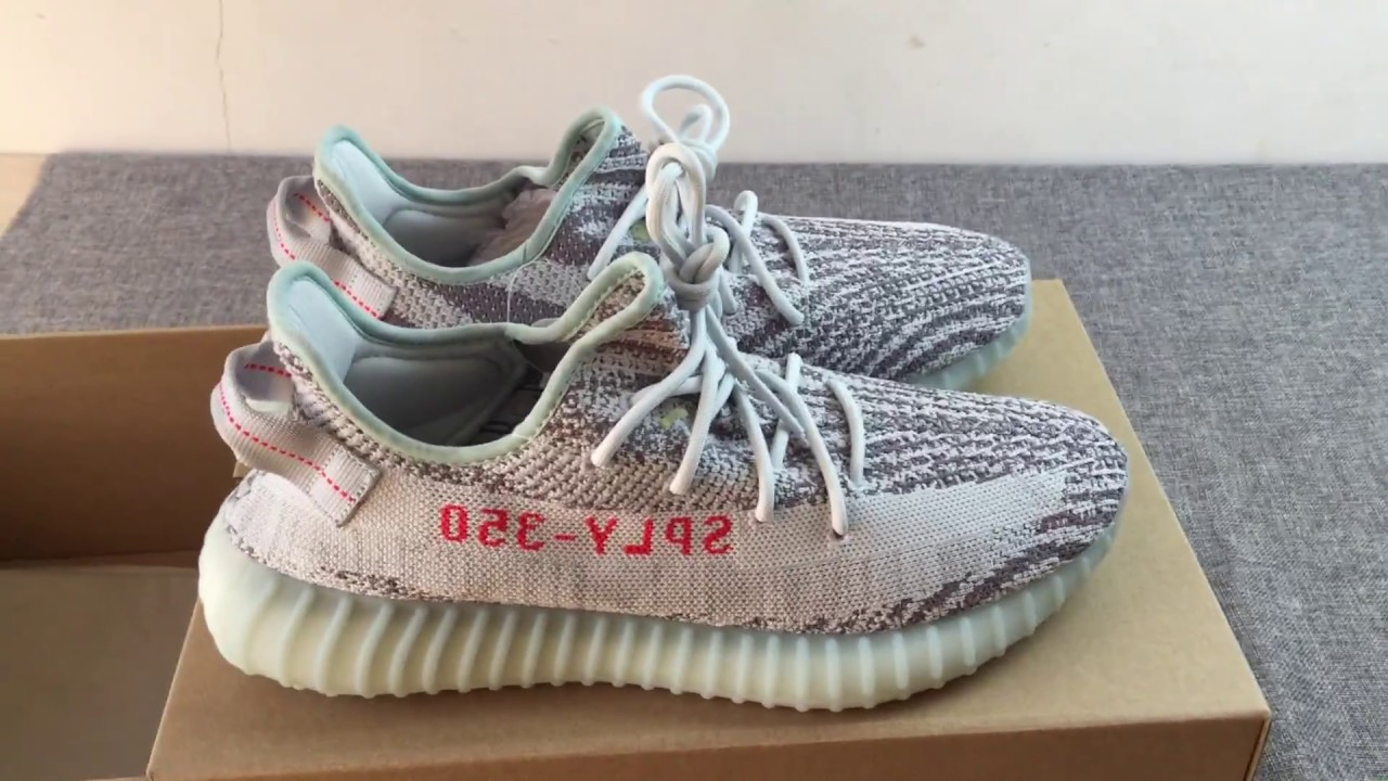 2e778077c48e5 ADIDAS YEEZY BOOST 350 V2 MINT BLUE - YouTube