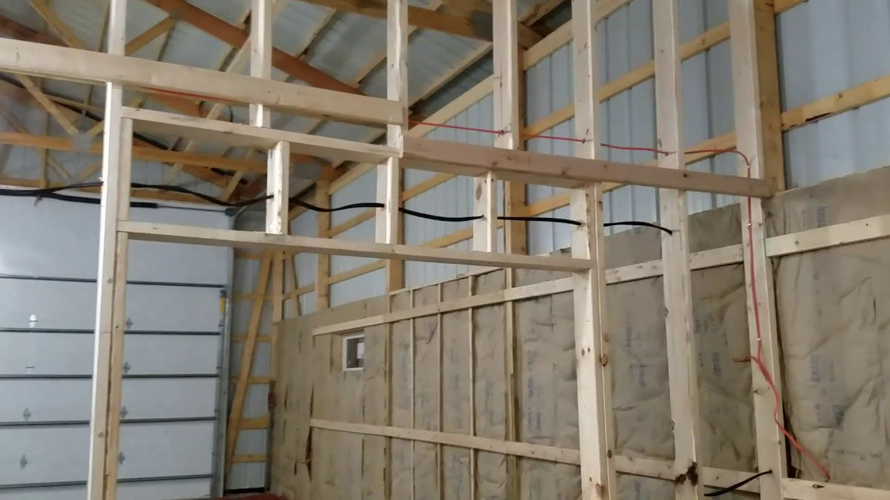 Pole Building Inside Wall Framing