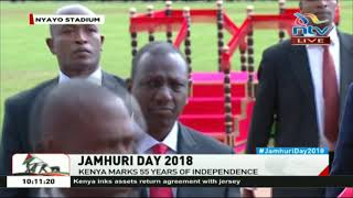Jamhuri Day celebrations: DP William Ruto's arrival