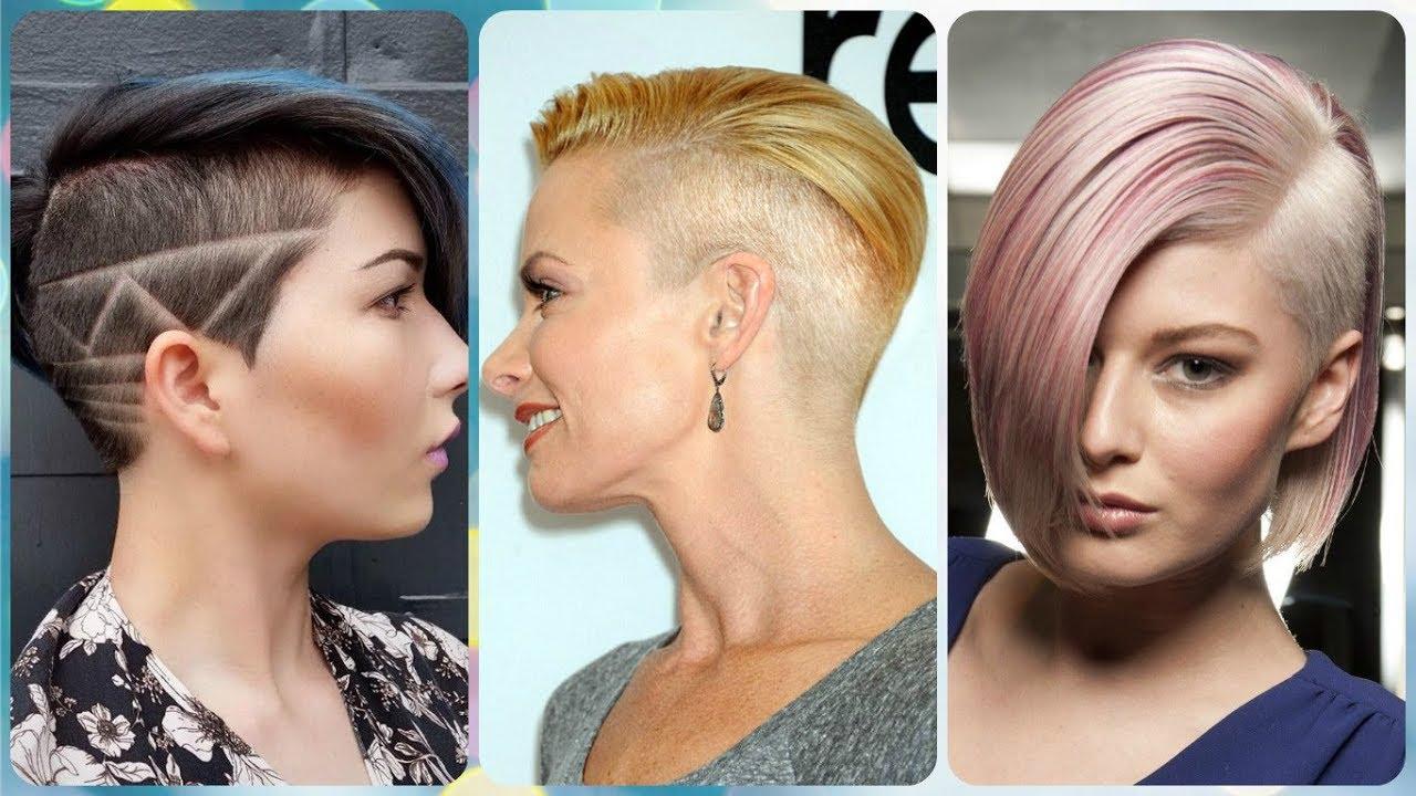 Corte de pelo rapado lateral mujer