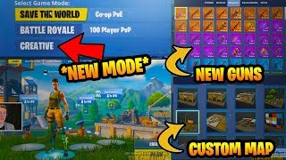 Fortnite NEW CREATIVE MODE! New Fortnite Creative Game Mode! BUILD Your OWN FORTNITE MAP!