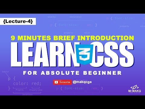 Learn CSS in 9 Minutes - CSS Crash Course For Absolute Beginners [Lecture 4] - Mr.MAKQ Code Injector thumbnail