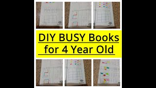 DIY BUSY Book Activities book for 4 year old
