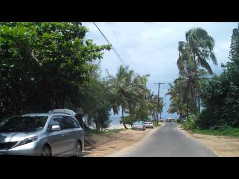 Driving from South to the North Around Beautiful Kauai Island Part 1 HD