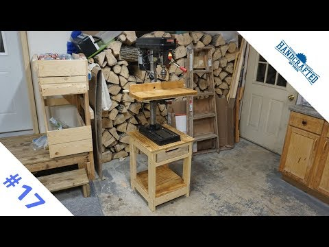 Drill press stand made with half laps - Ep. 17