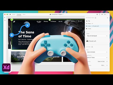 NEW: Gamepad, Keys, and Voice Component Triggers in Adobe XD