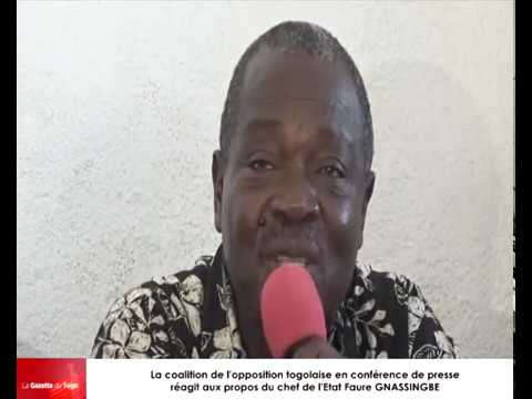La coalition de l'opposition réagit aux propos du chef de l'Etat Faure GNASSINGBE