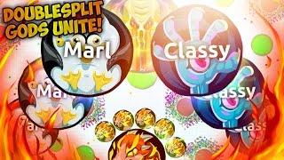 Agar.io - DOUBLESPLIT KINGS! Marl & Classy - VANILLA & EXTENSION Doublesplit GODS! BEST MOMENTS