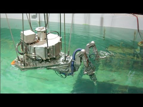 Toshiba demonstrates remote-controlled spent nuclear fuel removal device