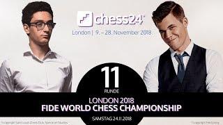 11. Partie - FIDE Schachweltmeisterschaft 2018 - Carlsen-Caruana