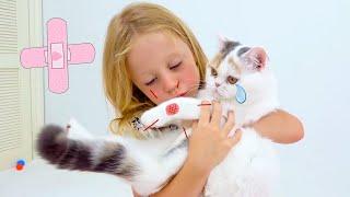 Nastya Y Cuentos Infantiles Sobre Gatos