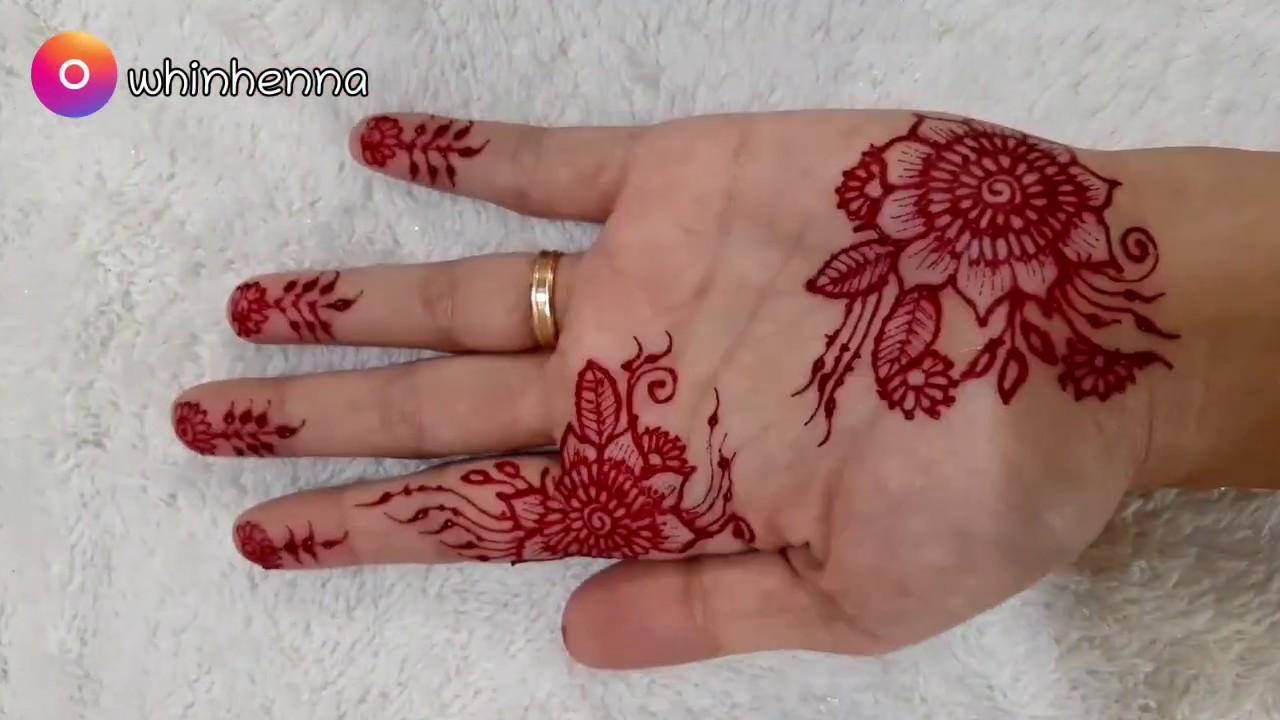 Gambar Henna Tangan Mudah Ditiru Youtube