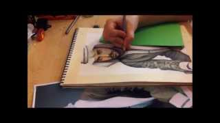 """Time lapse drawing video for """"Saudi"""""""