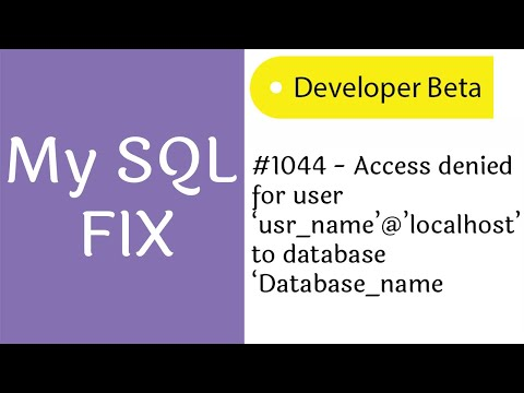 Fix Mysql #1044 AccessDenied for user And Import Database on web server(Hosting Server)