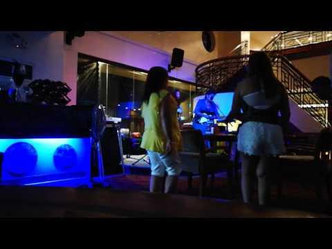 Karaoke queen from Melbourne sings at Berjaya Makati hotel Manila Philippines
