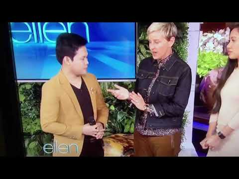 Marcelito Pomoy singing Beauty and the Beast at the Ellen Degeneres Show