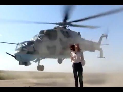 Храбрая журналистка выстояла под лопастями вертолетов ипрославилась
